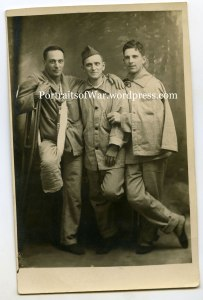 WWI Wounder soldiers - Marine, 42nd Division, 26th Division, 1st Division