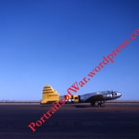 Operation Crossroads - Post-WWII Color Slide Photo - QB-17 Drone Plane at Roswell, New Mexico