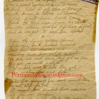 "Amazing 103rd Infantry Regiment Field Written Poem - ""Somewhere in France"" - 26th Division"