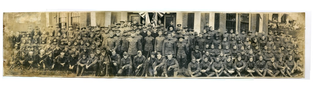 Spencer, Massachusetts WWI Veterans Return Home - 1919 - Panoramic Photo