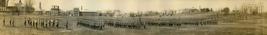 The University of Vermont at War - WWI UVM Campus Panoramic Photo by Louis L. McAllister