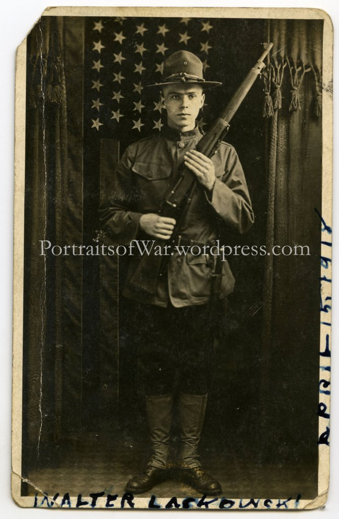 WWI 26th Yankee Division, 102nd Field Artillery Doughboy - Walter Laskowski