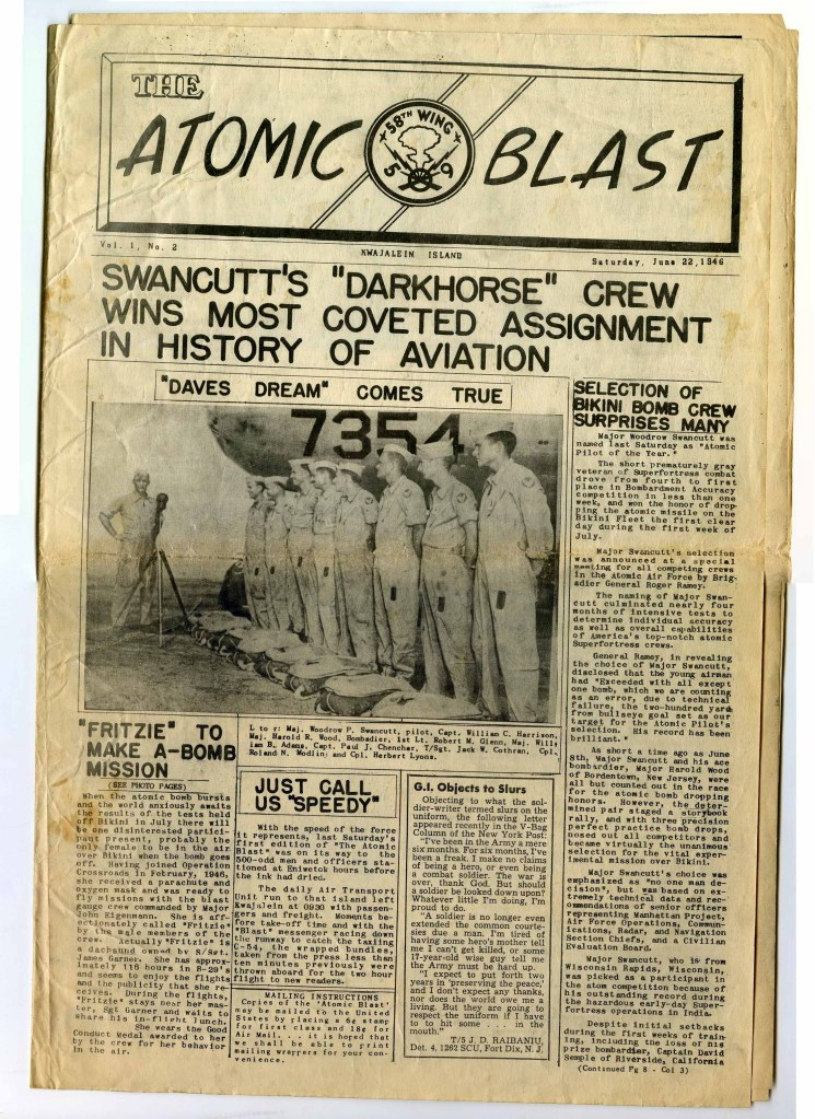 June 1946 Operation Crossroads ORIGINAL Newsletter - 509th Composite Group - 58th Wing - Atomic Blast