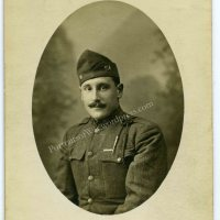 WWI 104th Infantry Regiment, 26th Yankee Division Portrait Photo - Wearing French Fourragere Cord