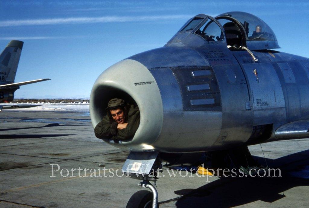 Korean War F-86 Sabre Jet!  Color Kodachrome Slide