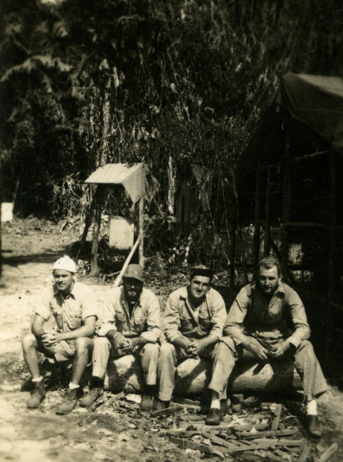 Windy Hill, Merl William Davenport, John Orrin Ellsworth and William Lee Landreth in Bougainville