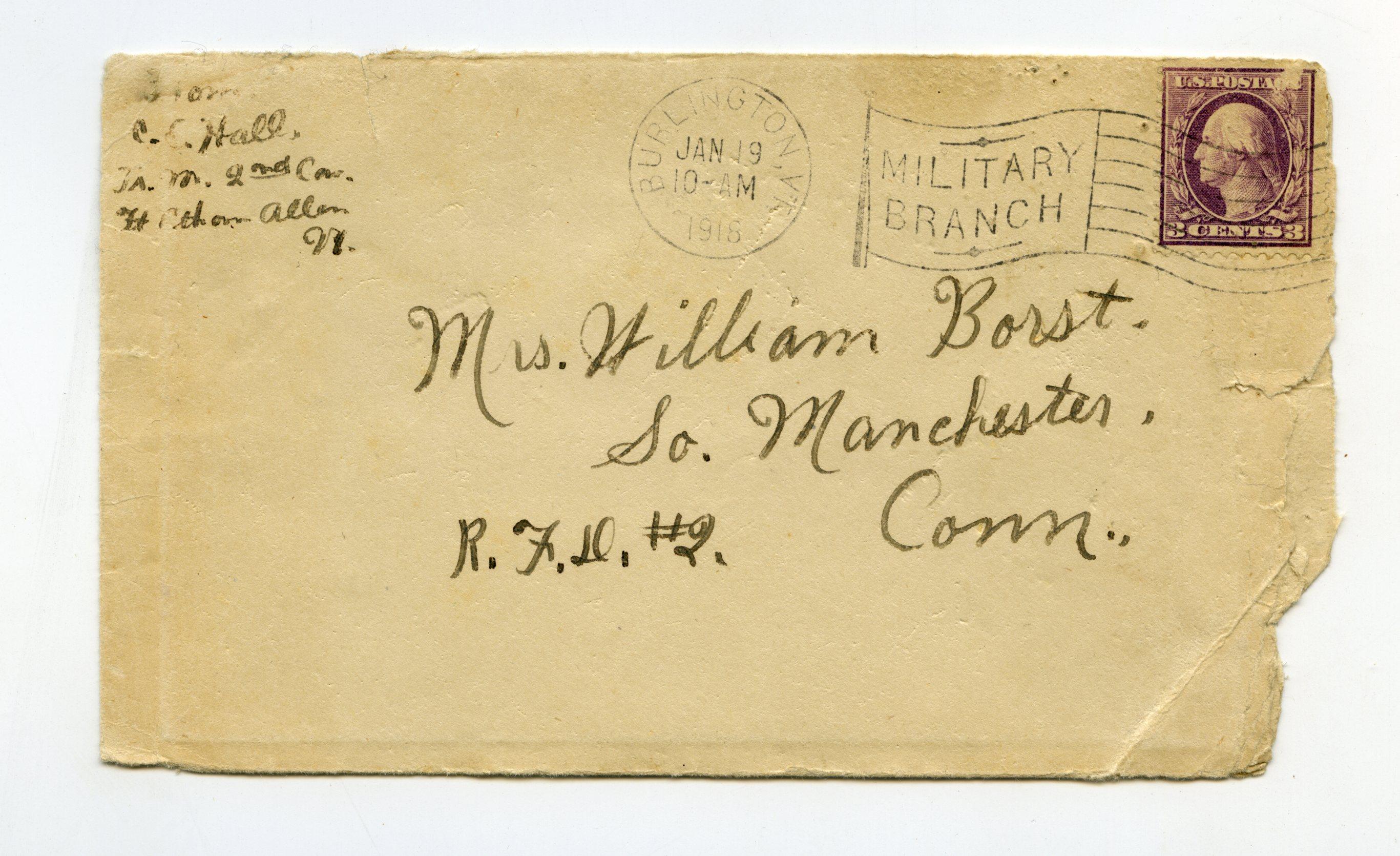 WWI letter | Portraits of War