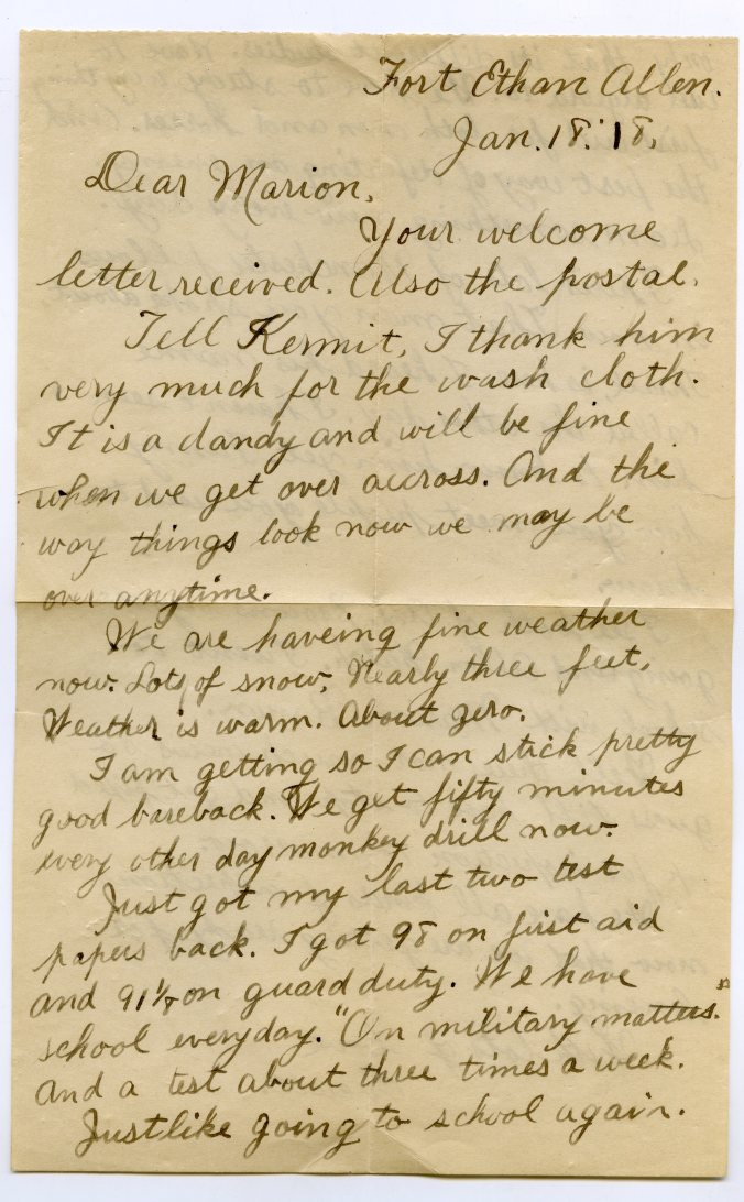 A Letter From The Trenches Examples