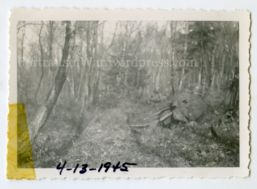 Actual WWII Combat Snapshot - 99th Division, 395th Infantry Regiment in the Ruhr Pocket April 1945