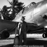 WWII USMC Marine Corps SBD Dauntless VMSB-231 Pilot and Dive Bomber on Majuro, Marshall Islands