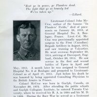 "Memorial Day 2012 Post - John McCrae: WWI University of Vermont Professor and Author of ""In Flanders Fields"""