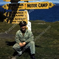 WWII in Vibrant Color - B-24 Ground Crew Member Poses in Turangi, New Zealand in 1945