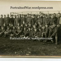 WWI Messenger Homing Pigeon Unit Poses in Germany - Captured German Helmet + Uniform Detail