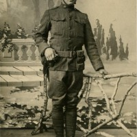 WWI Portrait Photo - 88th Division Iowa Doughboy - Died of Spanish Influenza in France, 1918