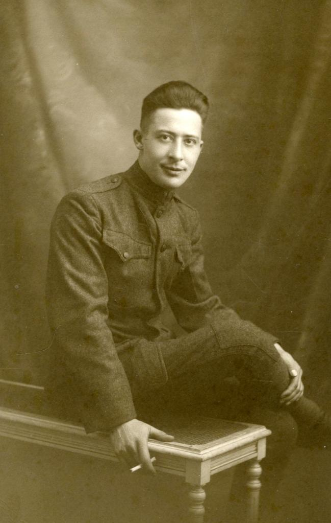 WWI Photo - Pittsburgh, PA WWI Veteran Laurence Baker Poses in a French Studio