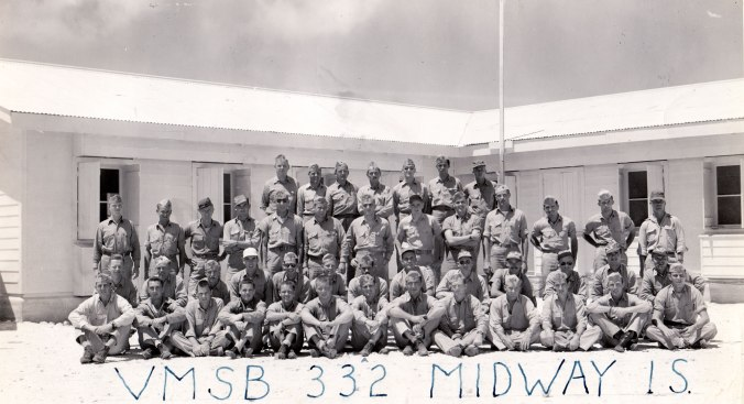 VMSB 332 on Midway