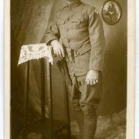 WWI Vermonter Identified Photo - John D. Hamilton of Middlebury, VT - 301st Engineer Supply Train