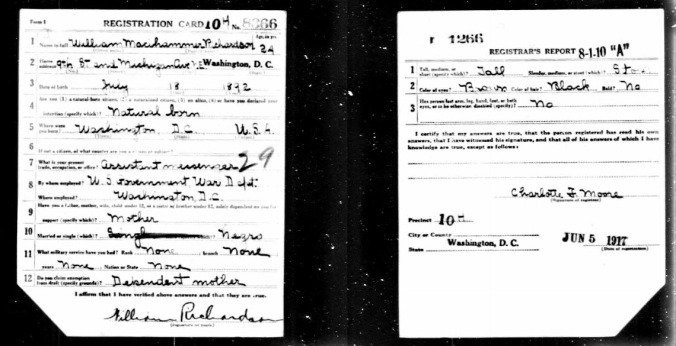 Richardson Draft Card