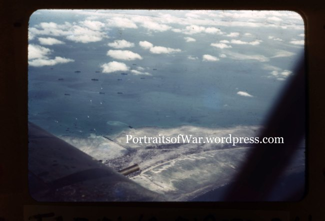 Aerial Shot of the Invasion of Tarawa