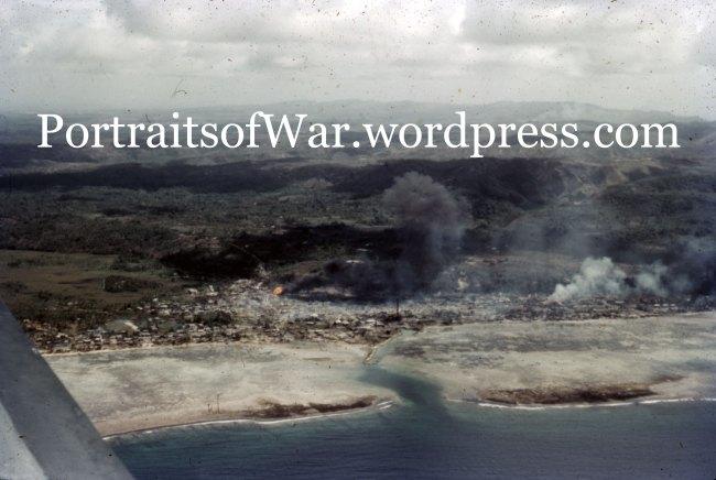 """""Jap Ammo Dump Hit by Naval Shells"""
