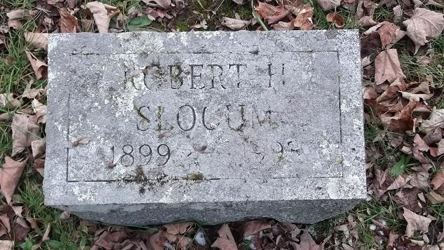 Lt. Slocum's grave in Syracuse