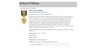 Williams' Silver Star Citation