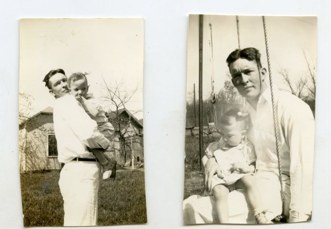 Lt. Slocum posed with his son, Robert H. Slocum III