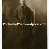 WWI Photo - Wounded 32nd Division Captain Poses in Paris Studio on Christmas 1918