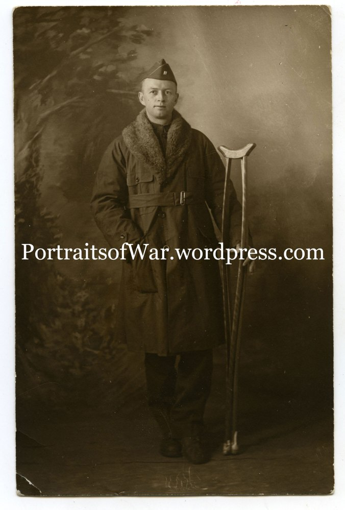 Albert E. Haan poses on Christmas Day 1918