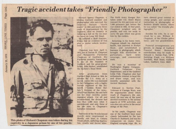 The Friendly Photographer is Taken Prisoner