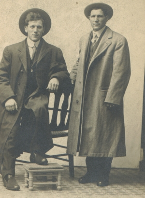 Ed Peterman (right)