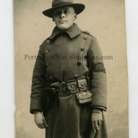 WWI Photo - 13th Marine Regiment MP Studio Photo Identified - Evald A. Johnson