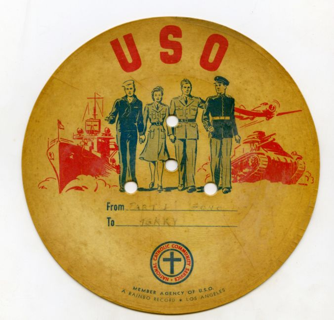 "WWII USO ""letter on record"""