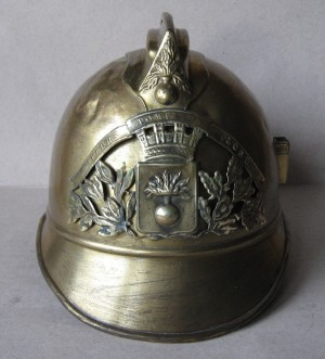 French Brass Fire Helmet