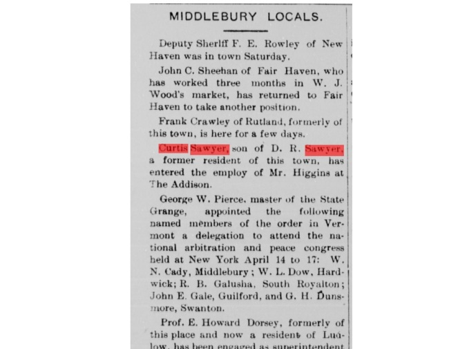 Middlebury News Reference