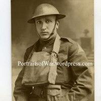 WWI Portrait Photo - Italian Born US Soldier 1st Mobile Veterinary Hospital Farrier