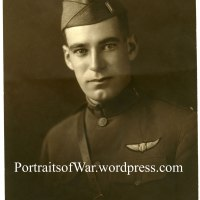 WWI Portrait Photo - WWI Pilot Walter V. Monger of Benson, Vermont