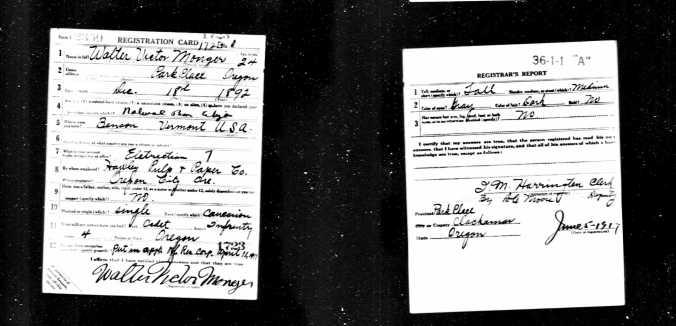 WWI Draft Registration Card