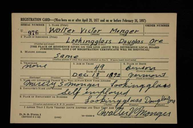 WWII Draft Registration