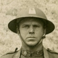 WWI Combat Veteran Portrait Photo - Peter Pizzolongo, 77th Division, 305th Infantry Regiment