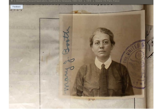 1919 Passport Photo
