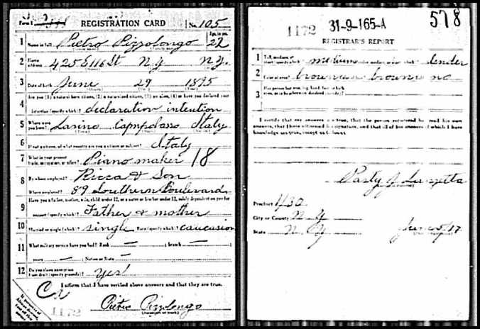 WWI Draft Card