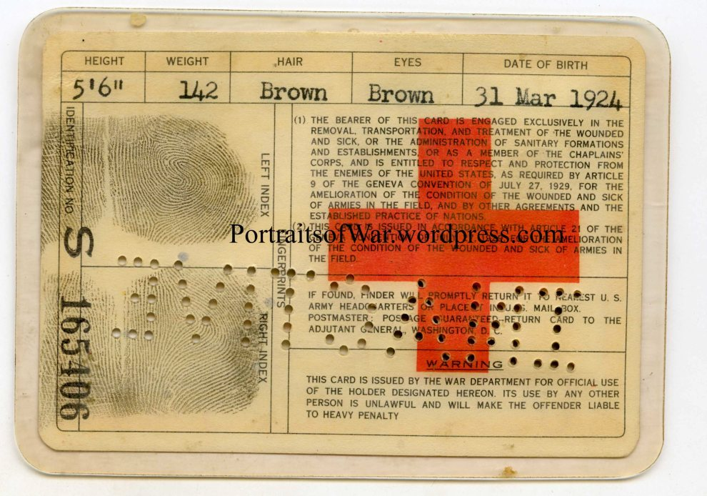 Reverse of Card Showing Fingerprints