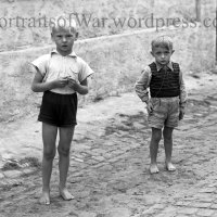 WWII War Orphans Pose in Germany - Barefooted German Children in Crisp B/W