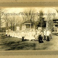 WWI Cows and War - Brattleboro, Vermont Holstein-Friesian Dairy Farmers Rally for War Bond Support ca.1918