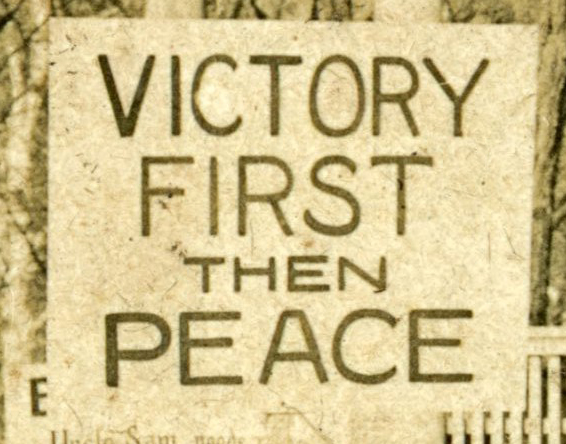 Victory First Then Peace