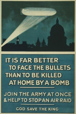 Zeppelin-inspired recruiting poster, 1915