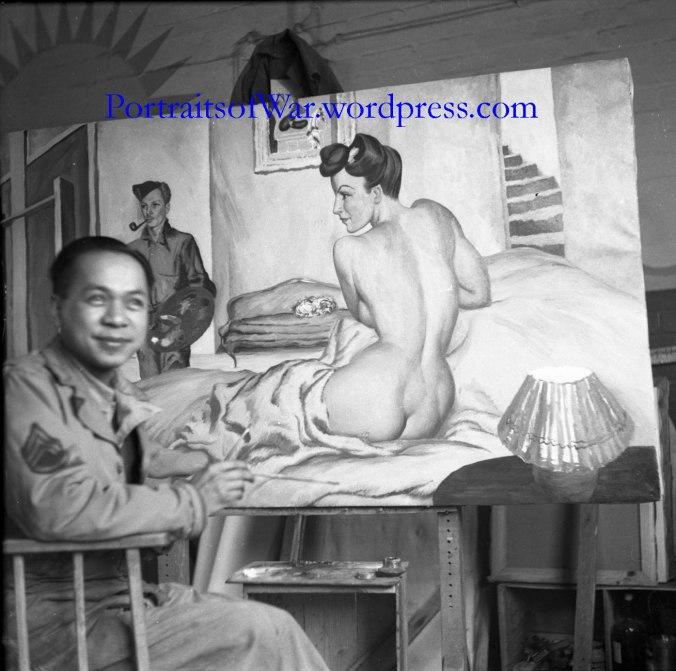 Alva Alegre at Work in England, 1944