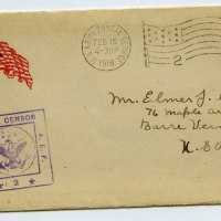 WWI Doughboy Letter - Barre, VT Boy Compares Streets of France to the Granite Streets of Barre