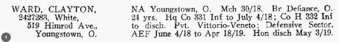 Clayton Ward, H Co. 332nd Infantry Regiment